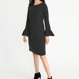 Black with White dots Ruffle Dress 👗💕